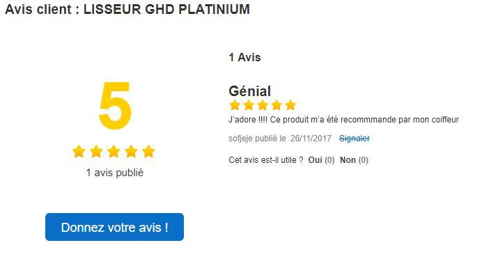 Encore un avis 5 étoiles pour le lisseur GHD Platinum haut de gamme