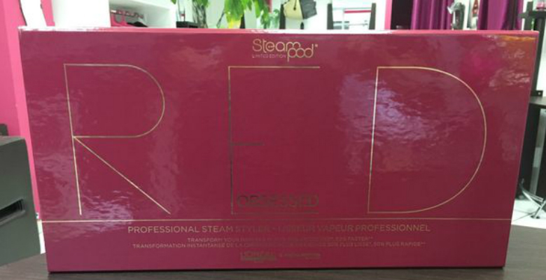 boite lisseur vapeur Steampod Red Obsessed