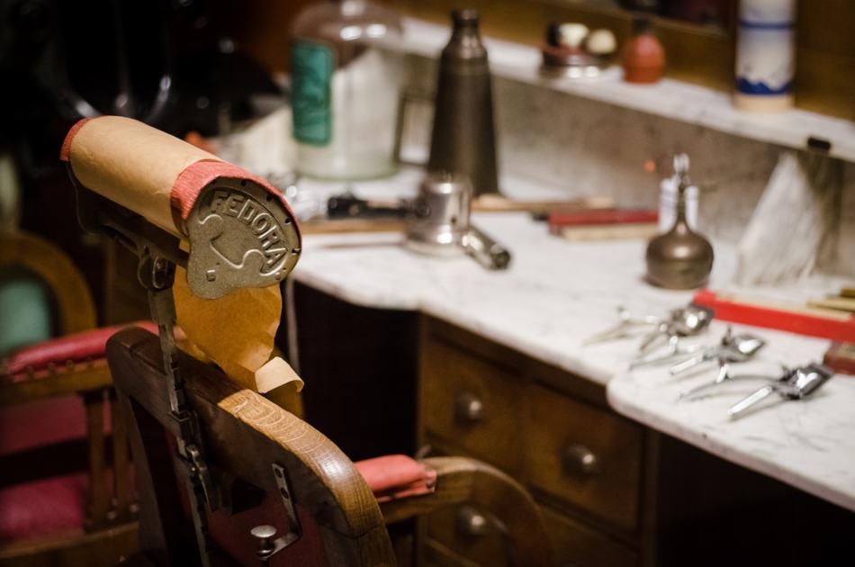Fauteuil de barbier vintage